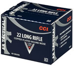 CCI Standard Velocity 0035, 22 Long Rifle, Lead Round Nose, 40 GR, 1070 fps, 4500 Rds