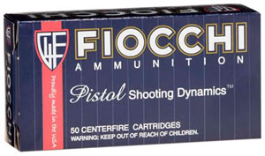 Fiocchi Shooting Dynamics Pistol Ammunition 38CA, 38 Special, Lead Round Nose, 158 GR, 880 fps, 50 Rd/bx