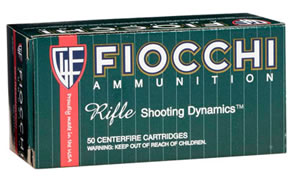 Fiocchi Shooting Dynamics Rifle Ammunition 3006C, 30-06 Springfield, PSP, 165 GR, 2800 fps, 20 Rd/bx