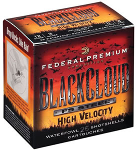 Federal Black Cloud High Velocity PWBH1434, 12 Gauge, 3 in, 1 1/8 oz, 1635 fps, #4 High Velocity Shot, 25 Rd/bx, Case of 10 Boxes