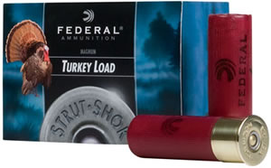 Federal Strut Shok Turkey Loads FT139F6, 12 Gauge, 3.5 in, 2 oz, 1300 fps, #6 Strut Shok Shot, 10 Rd/Bx