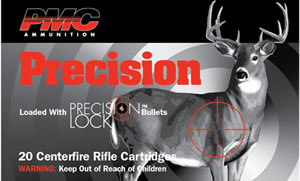PMC Precision Ammunition 300HIA, 300 Winchester, Interbond, 150 GR, 3275 fps, 20 Rd/bx