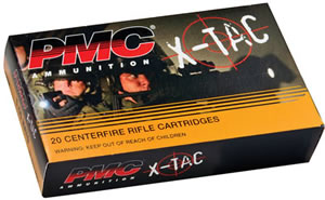 PMC X-TAC 556X, 5.56 NATO, Full Metal Jacket Boat-Tail, 55 GR, 3270 fps, 20 Rd/25bx, 500 Rds