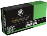 RWS Copper Matrix NTF Ammunition CM45, 45 ACP, Non Toxic/Frangible, 145 GR, 1157 fps, 50 Rd/bx