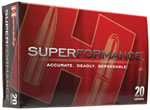 Hornady Superformance Ammunition 81254, 223 Rem, Gilding Metal Expanding, 55 GR, 3400 fps, 20 Rd/bx