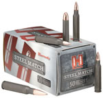 Hornady Steel Match Ammunition 80926, 308 Win, Boat Tail Hollow Point, 155 GR, 2396 fps, 50 Rd/bx