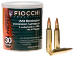Fiocchi Canned Heat Rifle Ammunition 223CC, 223 Remington, Full Metal Jacket Boat-Tail, 62 GR, 3000 fps, 30 Rds