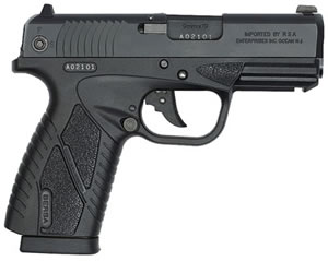Bersa Concealed Carry Pistol BP40MCC, 40 S&W, 3.2 in BBL, Dbl Actn Only, Blk Syn Grips, Adj Sights, Mt Blk Finish, 6 + 1 Rds