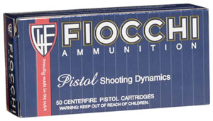 Fiocchi Ammunition 38SWSHL, 38 Smith & Wesson Short, Lead Round Nose, 145 GR, 720fps, 50 round