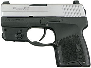 Sig Sauer Model P290 Pistol 2909TSSL, 9 mm, 2.9 in, Customizable Grip, 2 Tone Finish, 6 Rd, Siglite Sights