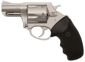 Charter Arms Pit Bull Revolver 74020, 40 S&W, 2.3 in, Rubber Grip, Stainless Finish, 5 Rd