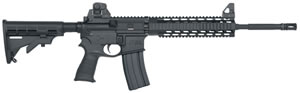 Mossberg MMR Tactical Rifle 65014, 223 Remington, 16 in, Semi Auto, Black Syn 6 Pos Stock, Black Phosphate Finish, 30 + 1 Rds, SGT, Quad