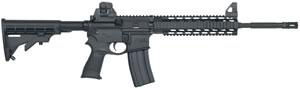 Mossberg MMR Tactical Rifle 65015, 223 Remington, 16 in, Semi Auto, Black Syn Fixed Stock, Black Phosphate Finish, 30 + 1 Rds, Quad
