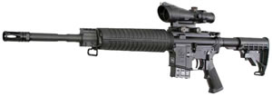 Armalite Model 15A4 Rifle 15A4CB68, 6.8 SPC, 16 in, Semi Auto, Black Syn Collap Stock, Black Finish, 10 + 1 Rd