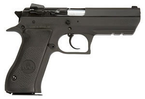 Magnum Research Baby Eagle II Pistol BE4500RS, 45 ACP, 3.93 in Semi-Compact, Blk Nylon Grip, Black Finish, 10 + 1 Rd, Rail
