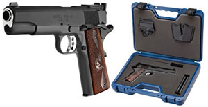 Springfield Range Officer Pistol PI9128LP, 45 ACP, 5 in, Cocobolo Wood Grip, Black Finish, 7 + 1 Rd