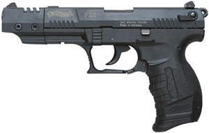Walther Model P22 Target Pistol QAP22005, 22 Long Rifle, 5 in, Black Grip, Black Finish, 10 + 1 Rd
