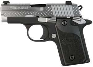 Sig Sauer Model P238 Pistol 238380DP, 380 ACP, 2.7 in, G10 Comp Grip, Black Finish, 6 + 1 Rd