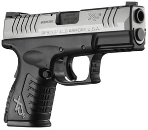 Springfield XDM 3.8 Pistol XDM9389CSHC, 9 mm, 3.8 in, Syn Grip, BiTone Finish, 19 + 1 Rd