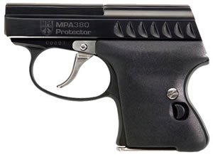 Masterpiece Arms MPA Protector Pistol 380B, 380 ACP, 2.25 in, Blk Polymer Grip, Black Finish, 6 + 1 Rd
