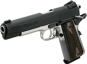 Sig Sauer 1911 Pistol 1911T45RTSS, 45 ACP, 5 in, Custom Wood Grip, Reverse Two Tone Finish, 8 + 1 Rd, Night Sights