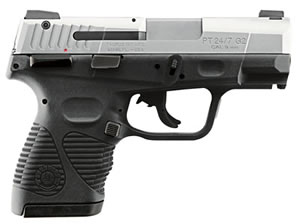 Taurus Model 24/7 G2 Standard Pro Pistol 1247099G2C17, 9mm, 3.5 in, Ribber Grip, Stainless Finish, 17 + 1 Rd