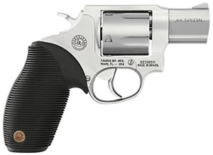 Taurus Model 445 Ultra-Lite Revolver 2445029UL, 44 Special, 2 in, Ribber Grip, Stainless Finish, 5 Rd