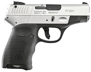 Taurus DT Hybrid Pistol 2011H40SS 1114003911, 40 S&W, 3.2 in, Polymer Grip, Stainless Finish, 11 + 1 Rd