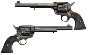 Colt 175th Anniv Ltd Edition Single Action Army Revolver P2870ANV, 45 LC, 7.5 in, Royal Blue Finish, 6 Rd