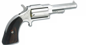 NAA Sheriff Revolver 1860250, 22 Magnum, 2.5 in, Wood Grip, Stainless Finish, 5 Rd
