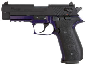 Sig Sauer Mosquito Pistol MOS22PURP, 22 LR, 3.9 in, Black Polymer Grip, Black/Purple Finish, 10 + 1 Rd