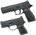 Sig Sauer Model P250 2SUM Pistol 250F402SUMC, 40 S&W, 4.7/3.6 in, Polymer Grip, Black Finish, 14/10 Rd, w/Xchg Kit