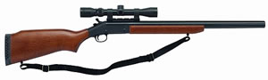 H&R Handi-Rifle 72709 SS2-57, 45-70 Government, 22 in, Break Open, Hardwood Stock, Blue Finish, 1 Rd, w/Scope
