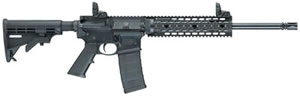 Smith & Wesson M&P 15T Rifle 811041, 223 Rem/5.56 NATO, 16 in, Semi-Auto, 6 Pt Collapsible Stock, Black Finish, 30 + 1 Rd