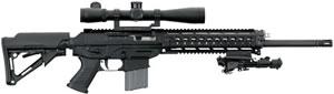 Sig Sauer Model 556 DMR Rifle R556H18BDM, 5.56 NATO, 18 in, Semi Auto, Collapsible Stock, Black Finish, 30 + 1 Rds, Rail, Bipod