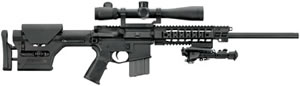 Sig Sauer Model 516 Precision Marksman Rifle R516H18BPRM, 5.56 Caliber, 18 in, Semi-Auto, SOPMOD Fixed/Adj Stock, Blk Anodized Finish, 10 + 1 Rd