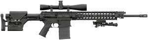 Sig Sauer Model 716 Precision Marksman Rifle R716H20BPRM, 7.62 x 51 mm, 20 in, Semi Auto, Magpul PRS Stock, Black Finish, 20 Rds