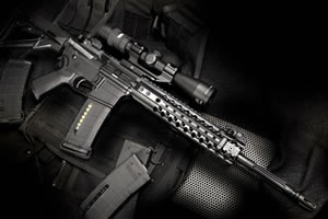 Wilson Combat Urban Tactical Rifle UT15A, 5.56 Caliber, 16 in, Semi Auto, 6 Pt Collap Stock, Black Finish, 20 + 1 Rd, Armor Tuff