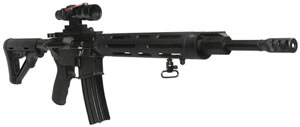 DPMS Panther Agency Rifle RFA33G1, 223 Rem, 18 in, Semi Auto, Magpul CTR Collapsible Stock, Teflon Coated Black Finish, 30 + 1 Rds