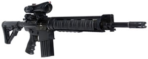 DPMS Panther Mark 12 Rifle RFLRM12, 308 Win, 18 in, Semi Auto, Magpul CTR Collapsible Stock, Black Finish, 19 + 1 Rds