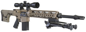 DPMS Panther REPR Rifle RFLRREPR, 7.62 X 51 mm, 18 in, Semi Auto, Dark Earth Magpul PRS Stock, Coyote Brown Finish, 19 + 1 Rds