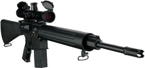 DPMS Panther LR 260 Rifle RFLR260H, 260 Remington, 20 in, Semi Auto, A2 Style Stock, Black Finish, 19 + 1 Rds, Heavy