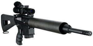 DPMS Panther LR 260 Rifle RFLR260L, 260 Remington, 20 in, Semi Auto, A2 Style Stock, Black Finish, 19 + 1 Rds, Light