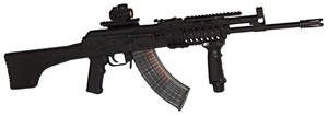 Inter Ordnance Hellhound Rifle IOIN1001, 7.62 x 39 mm, 16 in, Semi Auto, Fixed Pos Stock, Military Finish, 30 + 1 Rds, 4Rail