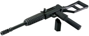 MPA MPA1SST45 Rifle , 45 ACP, 16 in, Semi Auto, Defender AR Type Adj Stock, Black Finish, 30 + 1 Rds, Threaded BBL, Scope/Mount