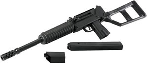 MPA MPA20SST9 Rifle, 9 mm, 16 in, Semi Auto, Defender AR Type Adj Stock, Black Finish, 35 + 1 Rds, Threaded BBL, Scope/Mount