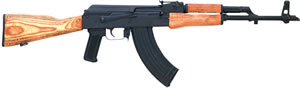 Century Model GP WASR R1805N, 7.62 X3 9 mm, 16 in, Semi Auto, Hardwood Stock, Blue Finish, 30 + 1 Rds