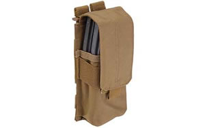 5.11 Tactical SlickStick System Mag Pouch Flat Dark Earth (2) Magazines Soft w/cover 58705