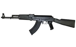 Arsenal SAM7 Rifle SAM713, 7.62 x 39mm, 16 in, Black Polymer Stock, Blk Finish, Adj Sights, 30 Rd, Hamm Forged