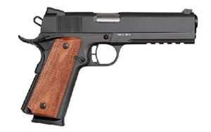 Armscor Rock Island Pistol 51484, 45 ACP, 5 in, Synthetic Grips, Parkerized Finish, Fixed Sights, 8 Rd, Rail